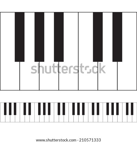 Piano keys illustration. VECTOR art. - stock vector