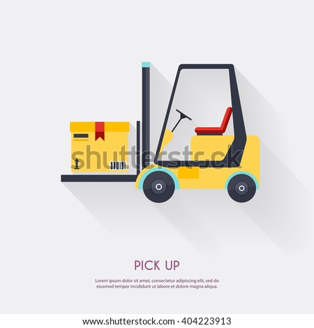 Pick up. Warehouse icons logistic blank and transportation, storage vector illustration. - stock vector