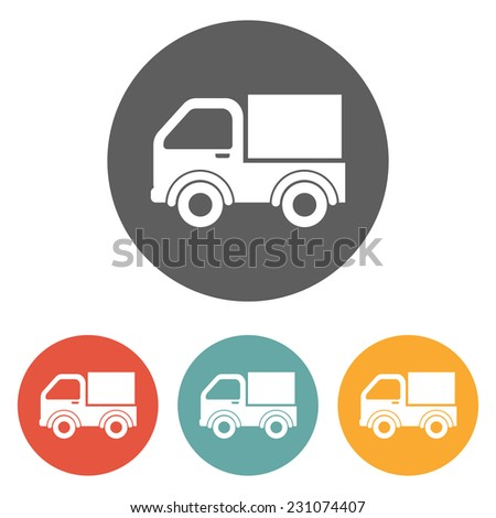 pickup truck icon - stock vector