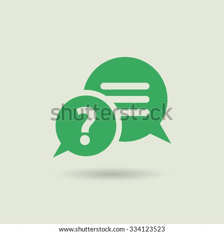 Pictogram of question mark. FAQ icon. Information exchange theme icon. Vector, flat, eps 10 - stock vector