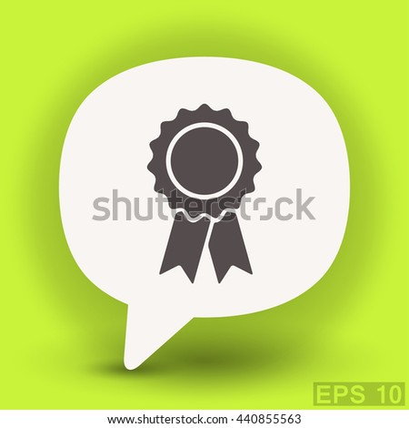 Pictograph of award. Vector concept illustration for design. Eps 10 - stock vector