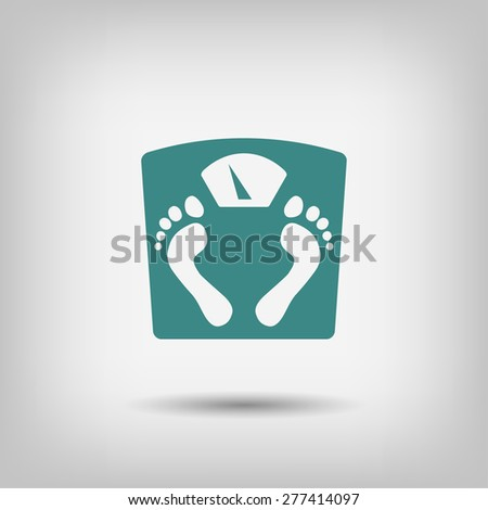 Pictograph of bathroom scale - stock vector