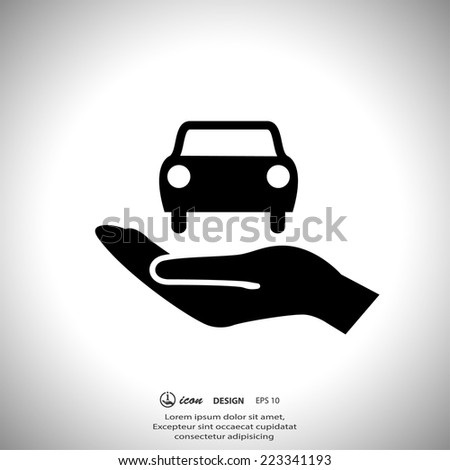 Pictograph of car - stock vector