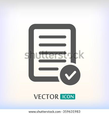 Pictograph of checklist .VECTOR ICON 10 eps - stock vector