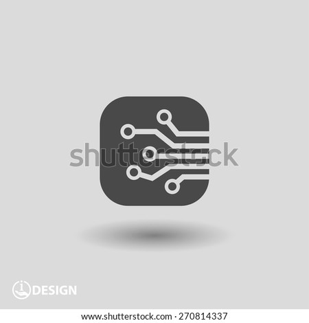 Pictograph of circuit board - stock vector