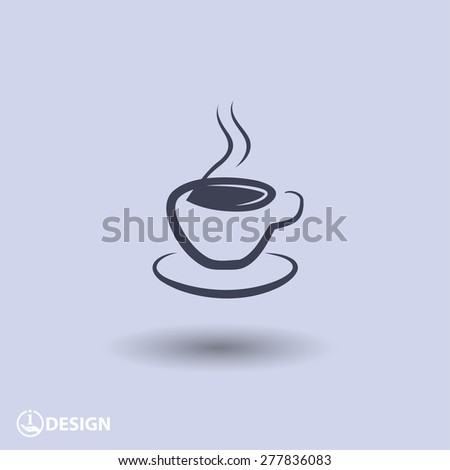 Pictograph of cup - stock vector