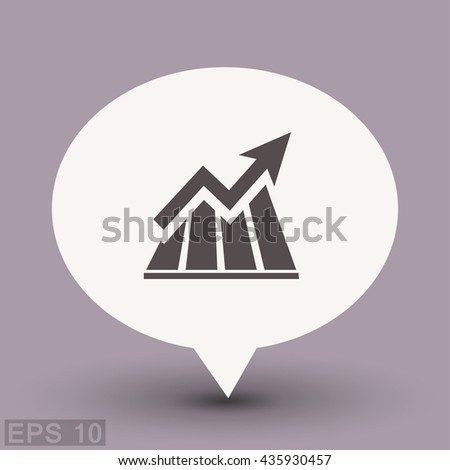 Pictograph of graph. Vector concept illustration for design. Eps 10 - stock vector