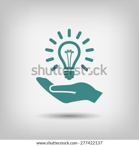Pictograph of light bulb - stock vector