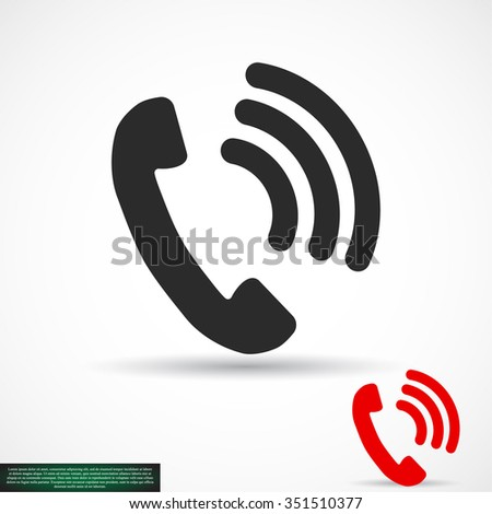 Pictograph of phone. icon. Vector Eps 10 - stock vector