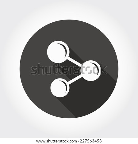 Pictograph of share - stock vector