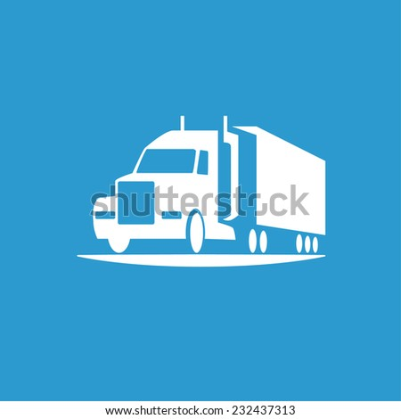 Pictograph of truck - stock vector