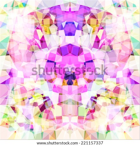 Picture a kaleidoscope. Vector - stock vector