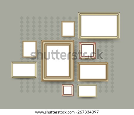 Picture frame vector. Photo art gallery. vector illustration. - stock vector