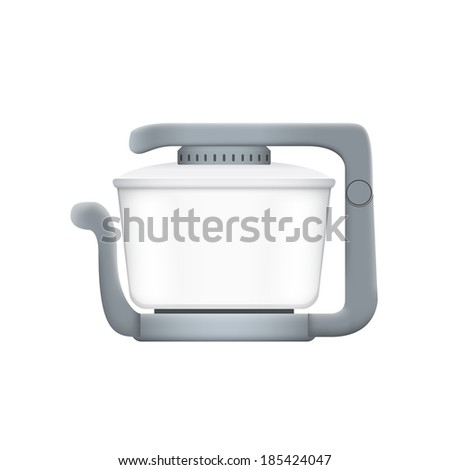 picture of aerogrill on white background, vector eps 10 illustration - stock vector