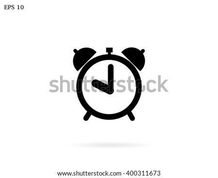 picture of alarm clock icon - stock vector