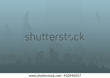picture of city silhouette - stock vector
