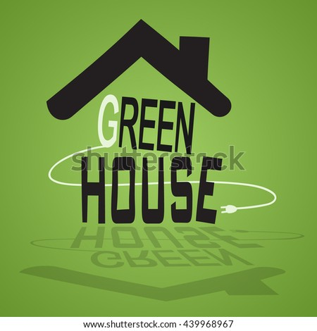 picture of eco house - stock vector