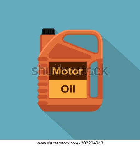 picture of motor oil tank, flat style icon - stock vector