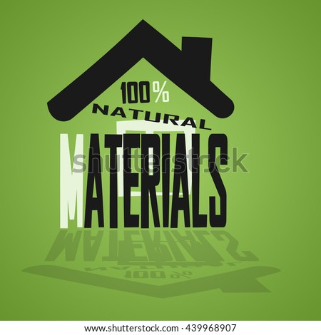 picture of natural house - stock vector