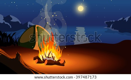 picture of tourism - stock vector