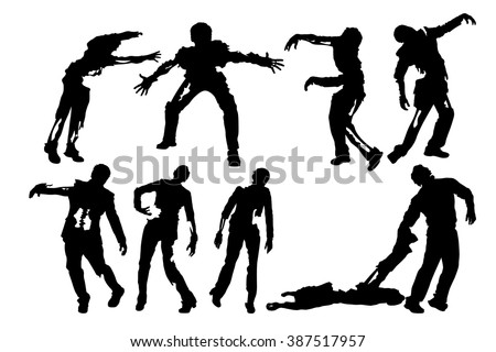 picture of zombies - stock vector