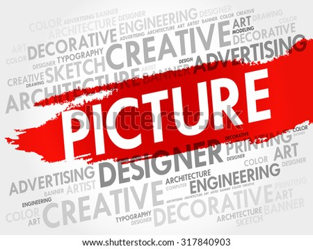 PICTURE word cloud, business concept - stock vector
