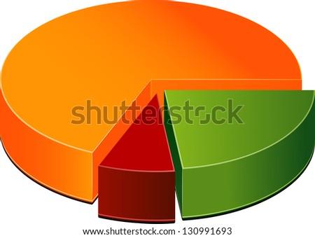 Pie Chart - stock vector