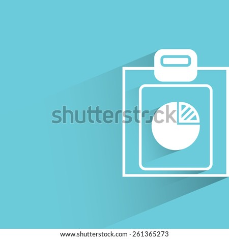 pie chart, analysis report, flat and shadow theme - stock vector