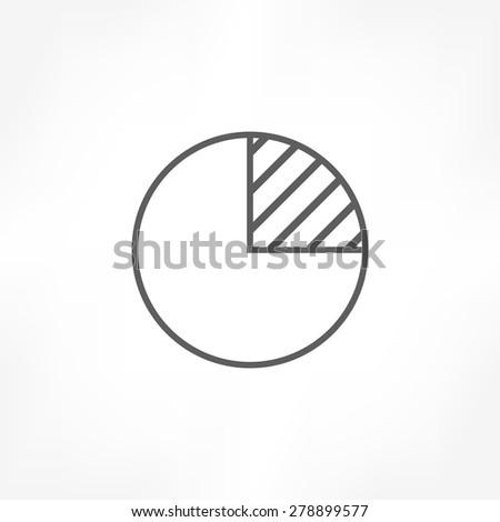 pie graph icon - stock vector