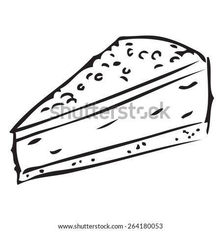 Piece of Cake Doodle - stock vector
