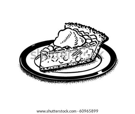 Piece Of Pie - Retro Clip Art - stock vector