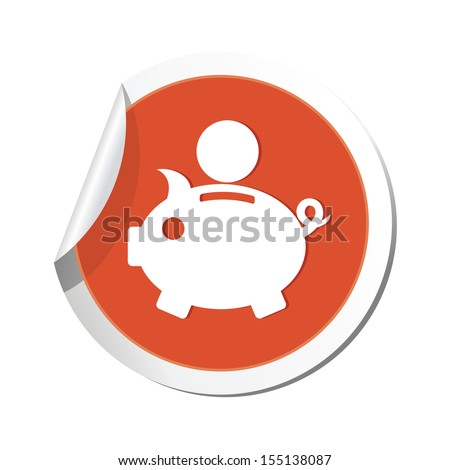 Piggy bank icon. Vector illustration - stock vector