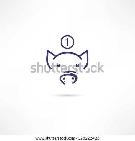 Piggy bank icpn - stock vector