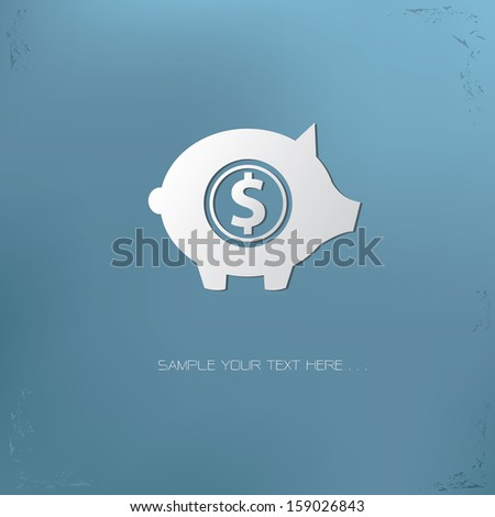 Piggy Bank symbol,vector - stock vector