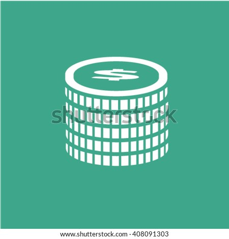 pile of coins icon  - stock vector