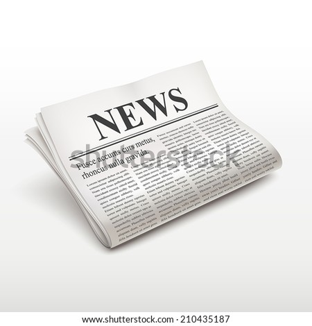 pile of newspaper isolated on white background - stock vector