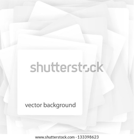Pile of white papers - stock vector