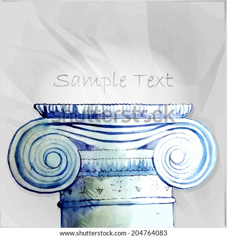 Pillar Vector Illustration for Design, Web Site. Architectural Frame Template - stock vector