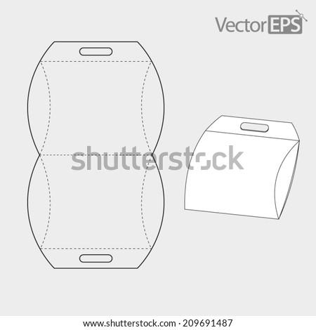 Pillow Pack Carrier - stock vector