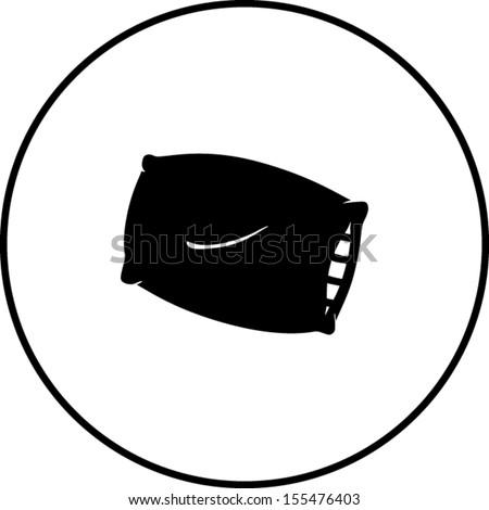 pillow symbol - stock vector