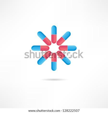 pills icon - stock vector