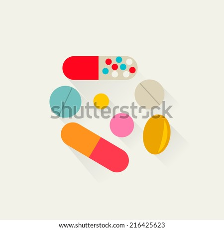 Pills icon, vector illustration - stock vector