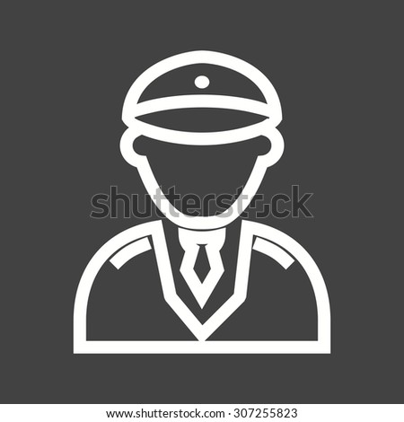 Pilot, helicopter, airline icon vector image. Can also be used for professionals. Suitable for web apps, mobile apps and print media. - stock vector