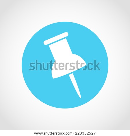 Pin Icon Isolated on White Background - stock vector