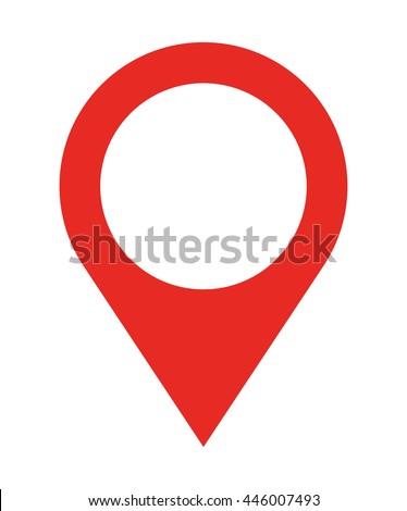 pin location  isolated icon design, vector illustration  graphic  - stock vector