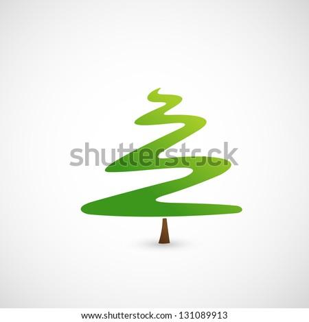 Pine tree icon vector - stock vector