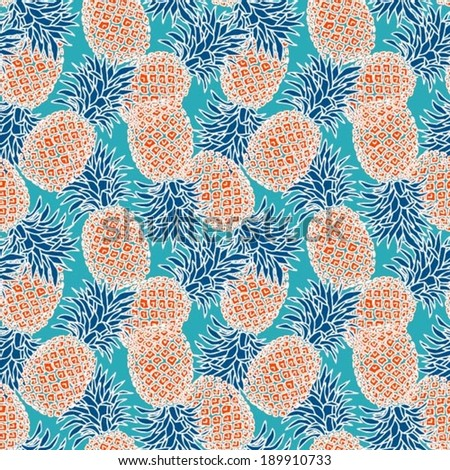 Pineapple pattern background - photo#20