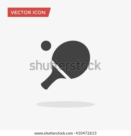 Ping pong Icon in trendy flat style isolated on grey background. Sport symbol for your web design, logo, UI. Vector illustration, EPS10. - stock vector