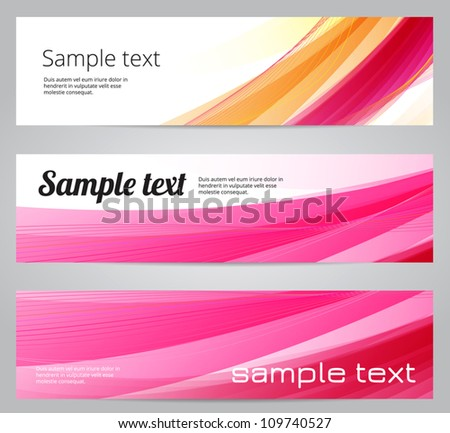 Pink abstract vector banners - stock vector