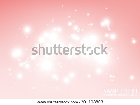 Pink abstract vector sparkles background illustration  - Vector shiny abstract pink space spark  template - stock vector
